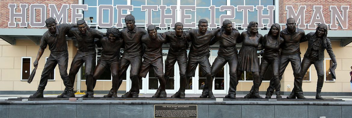 Students 12th Man Sculpture